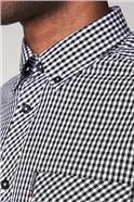 Black Long Sleeved Gingham Shirt