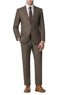 Brown Donegal Tailored Trouser