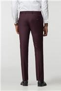 Burgundy Twill Skinny Fit Trousers