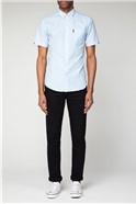 Sky Blue Short Sleeved Oxford Shirt