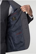 Tailored Charcoal Check Suit