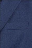 Stvdio Blue Textured Slim Fit Ivy League Suit Trouser