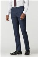 Stvdio Blue Pink Check Slim Fit Ivy League Suit Trouser