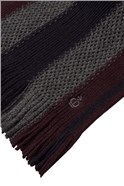 Aubergine Textured Striped Scarf