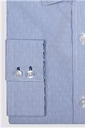 Light Blue Floral Jacquard Shirt