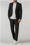 Tailored Fit Black Panama Suit