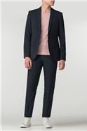 Navy Panama Skinny Fit Trousers