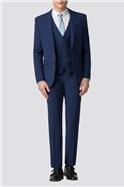 Bright Blue Plain Slim Fit Trouser