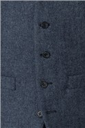 Airforce Blue Donegal Slim Fit Waistcoat
