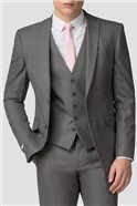 Grey Skinny Fit Suit Trousers