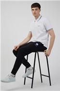 White Romford Tipped Polo Shirt