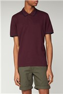 Wine Red Romford Tipped Polo Shirt