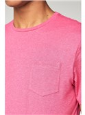 Pink T-Shirt with Chest Pocket