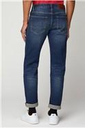 Stonewash Straight Fit Jean