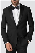 Black Regular Fit Tuxedo Trouser