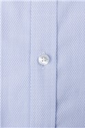 Blue Victor Textured Tailored Fit Shirt