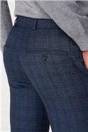Airforce Blue Check Camden Trouser