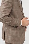 Sand Check Slim Fit Suit