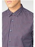 Navy Oxford Geo Shirt