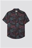 Short Sleeve Tropical Paisley Print Shirt