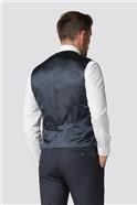 Adel Slim Fit Navy Micro Waistcoat