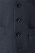 Adwick Tailored Fit Navy Textured Waistcoat