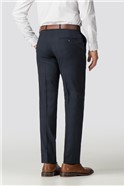 Abbott Tailored Navy Check Trouser