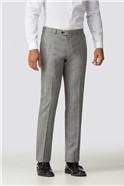 Grey Check Slim Fit Trouser