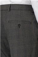 Charcoal Rust Check Skinny Fit Trousers