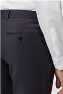 Navy Burgundy Micro Tailored Fit Trouser