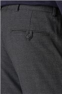 Grey Semi-Plain Tailored Fit Trousers