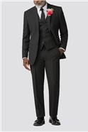 Black Regular Fit Trousers