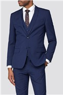Bright Blue Slim Fit Trousers