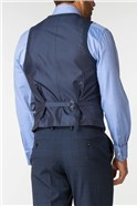Men's Airforce Blue Checked Travel Suit
