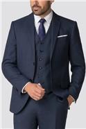 Bright Blue Texture Soho Suit Trousers