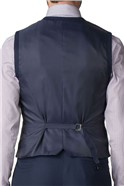 Studio Navy texture tailored fit waistcoat