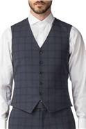 Stvdio Airforce Crepe Check Super Slim Fit Brit Suit