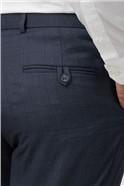 Navy Check Regular Fit Suit