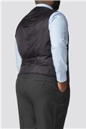 Big and Tall Charcoal Micro Check Waistcoat
