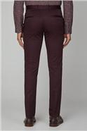 Burgundy Cotton Camden Trouser