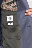 British Blue Micro Gingham Camden Jacket