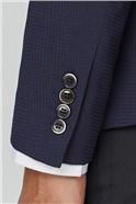 Navy Texture Camden Jacket