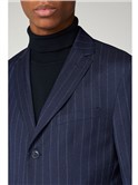 Navy Pin Stripe Blazer