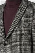 Sezy Black White Check Overcoat