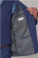 Blue Check Slim Fit Suit Trouser