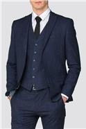 Navy Fleck Slim Fit Suit Trouser