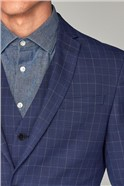 Bright Blue Check Skinny Fit Suit
