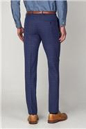 Bright Blue Check Skinny Trouser