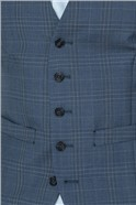 Light Blue Check Tailored Fit Suit