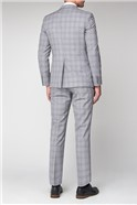 Grey & Lavender Checked Tailored Fit Suit